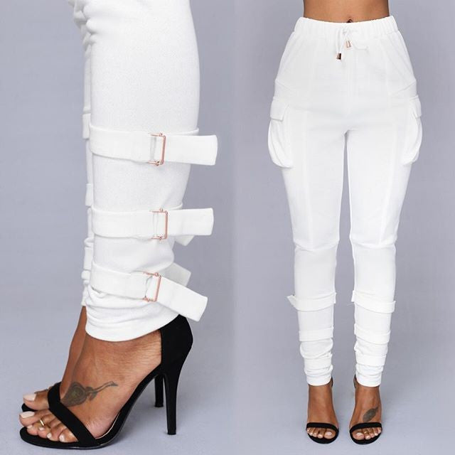 High Waist Side Pocket Pants
