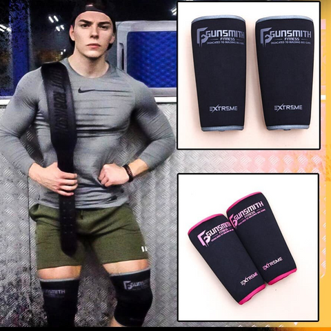 Knee sleeves for weightlifting