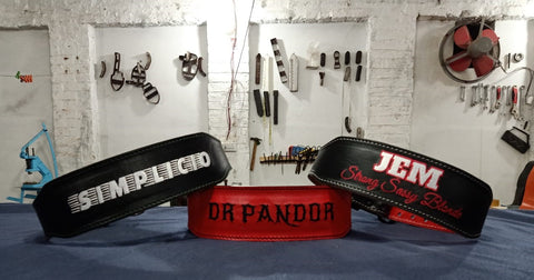 gunsmith bespoke gym fitness belts