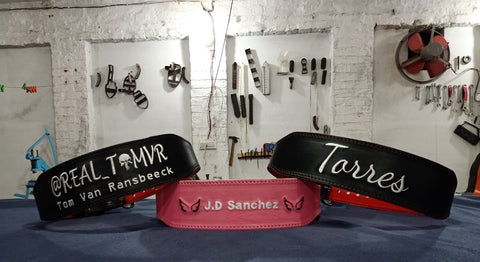 Custom gym belts