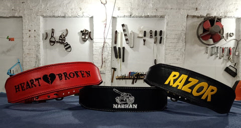 Design your own gym belt
