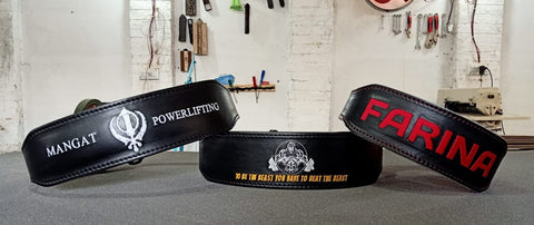 design your own gym lifting belt