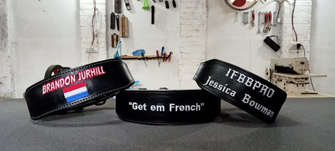 personalised gym belts