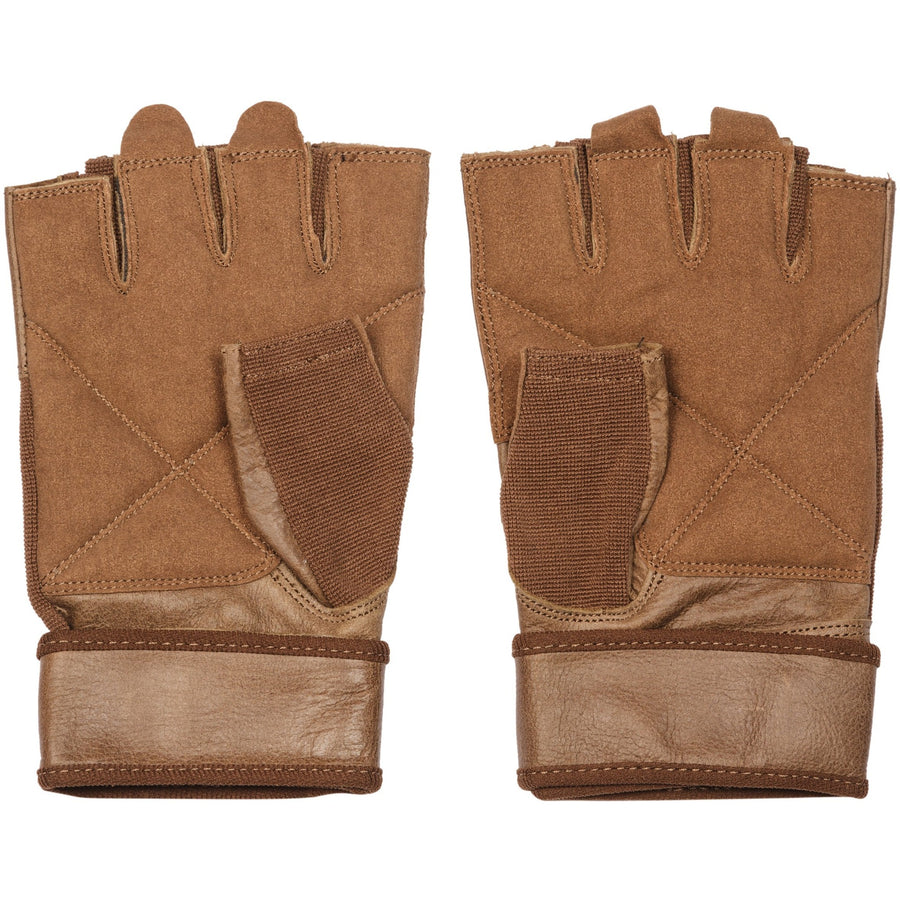 brown leather workout gloves