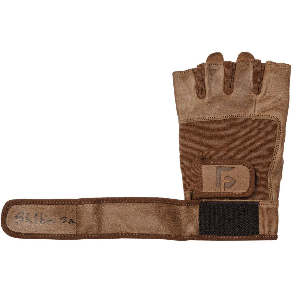brown leather gym glove