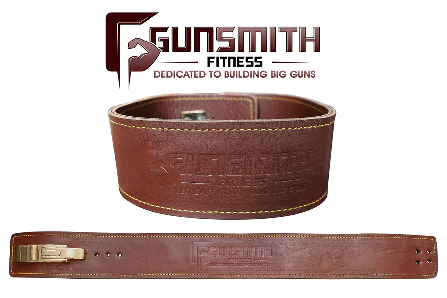 Apex Lever Weight Lifting Belt - Ultra Premium Handmade, 4 inch wide