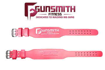 Ladies pink leather lifting belt