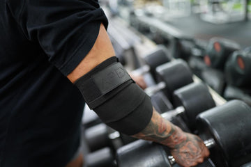 Black elbow wraps