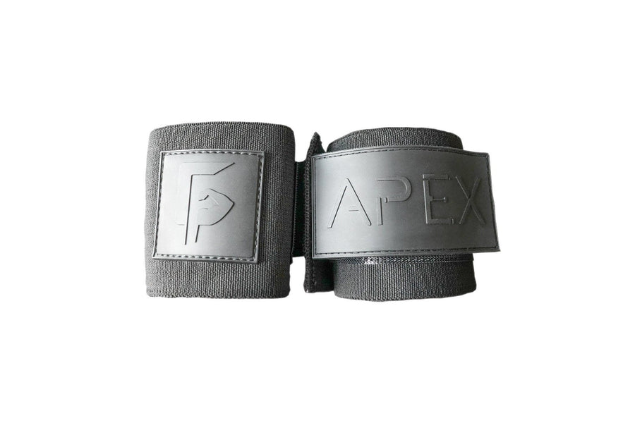 Black rubber lifting wrist wraps