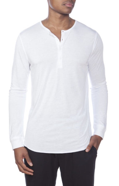 Lounge Henley LS white