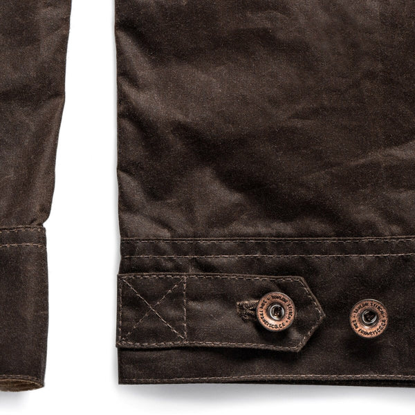 Long Haul Jacket in tobacco waxed canvas