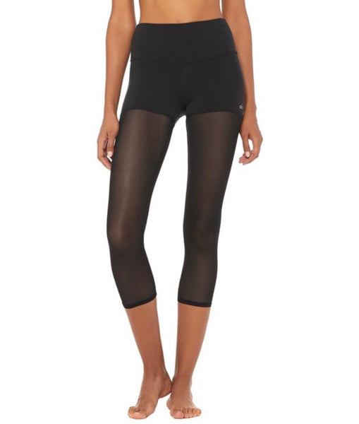 High Waist Sheer Capri