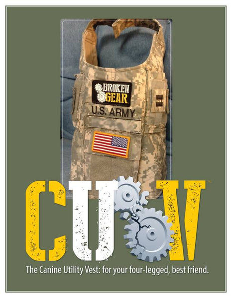 Canine Utility Vest (CUV) made by Broken Gear for service dogs