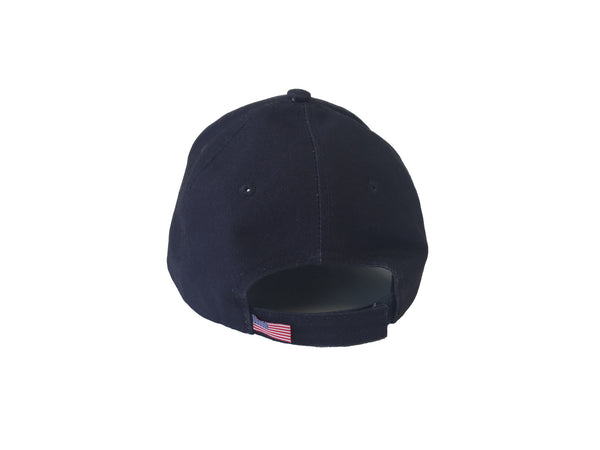 Broken Gear hat with removable Broken Gear patch, black, back view