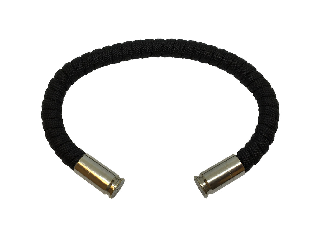 Bullet Bracelet, black, made by Veterans with Broken Gear Inc