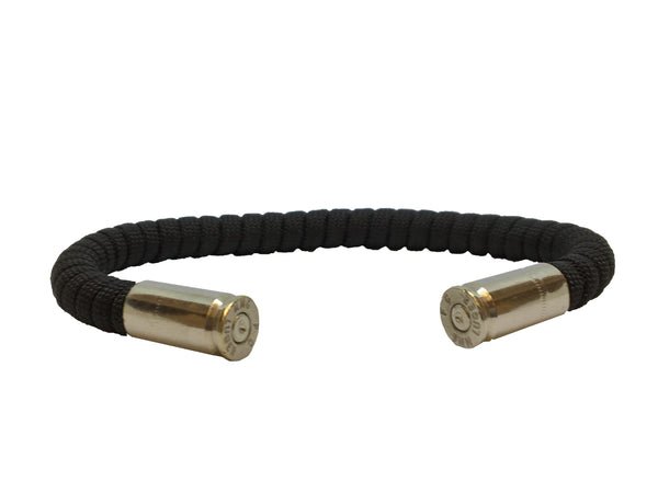 Bullet Bracelet, black, made by Veterans with Broken Gear Inc, side view