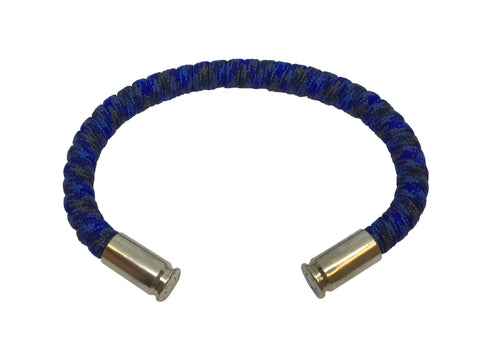 Bullet Bracelet, blue black digital, made by Veterans with Broken Gear Inc