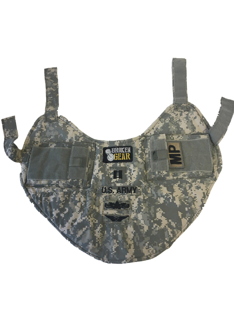 Service dog vest custom made by Broken Gear from personal uniforms
