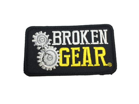 Broken Gear black velcro patch