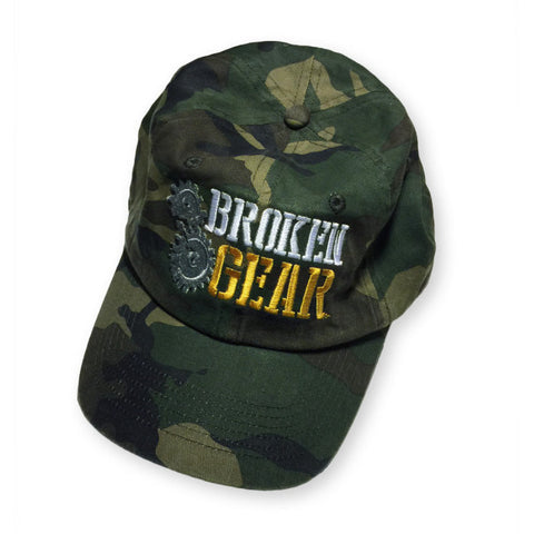 Broken Gear - Cap - Hat - Woodland Camo - Overhead view