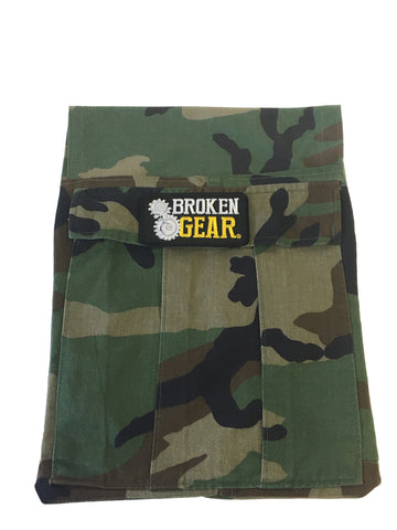 Broken Gear Bag - Large - Woodland Camo - made out of personal uniform