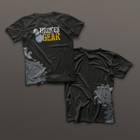 Broken Gear shirt - Veteran Owned and Run - Black
