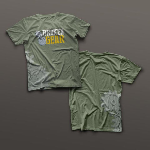 Broken Gear shirt - Veteran Owned and Run - Green