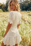White broderie anglais dress Eileen
