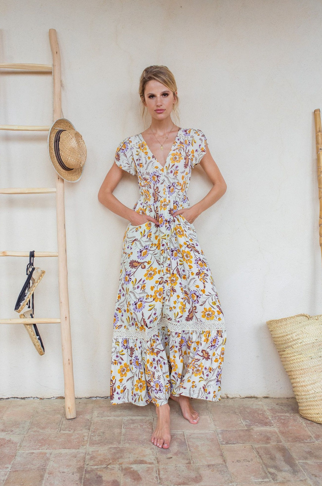Jaase Maxi Dress Carmen in Kyla Print