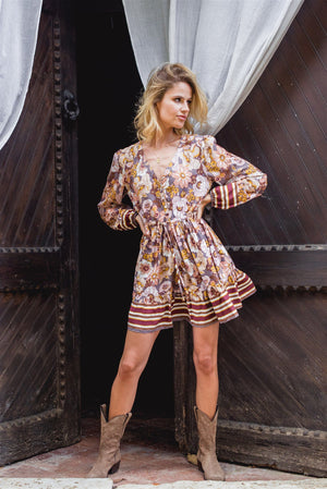 Mini Dress Sky in Alba Print