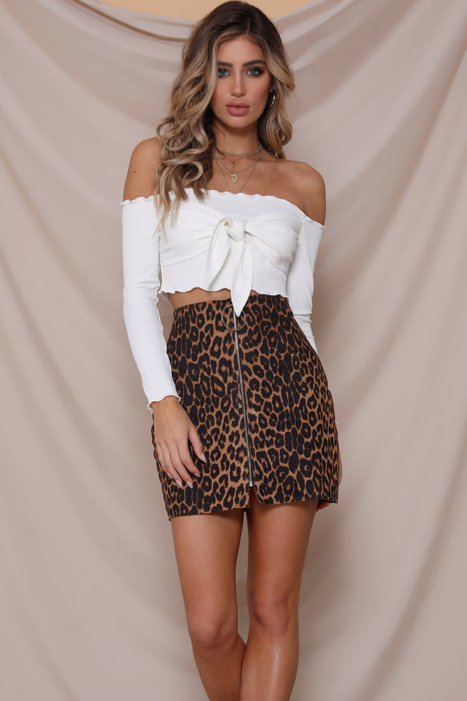 Leopard Print mini skirt Meow