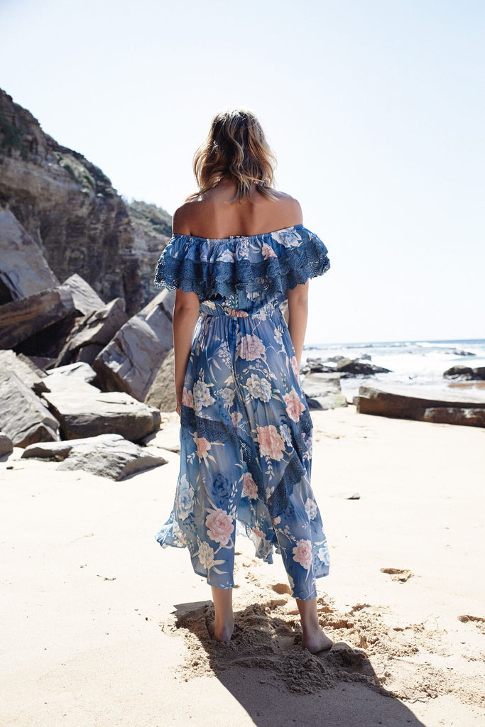 Positano Maxi Dress with lace detail
