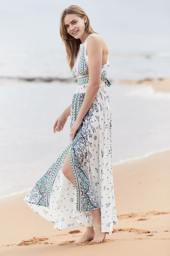 Halter Dress Rumi in Endless Summer Print