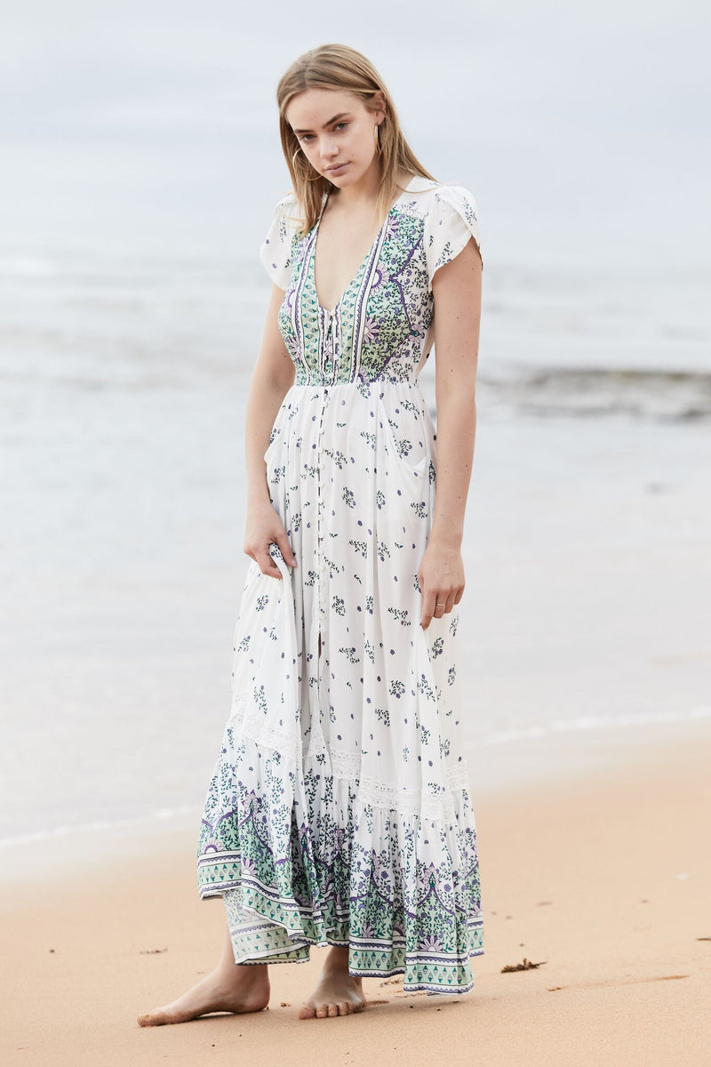 Maxi Dress Carmen in Endless Summer Print
