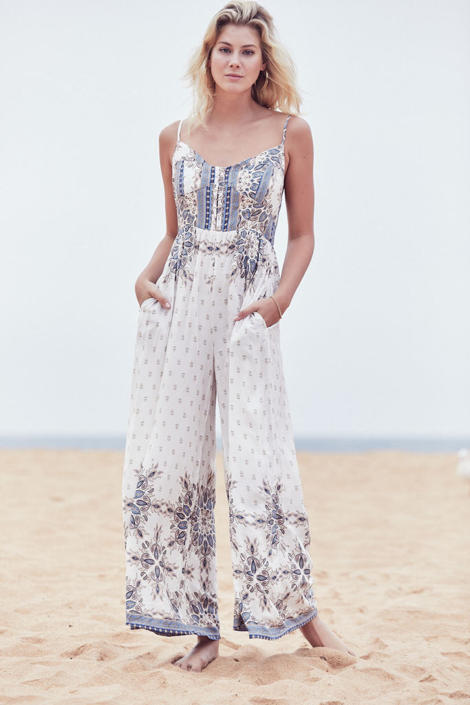Jumpsuit Jolie in Gemstone Print