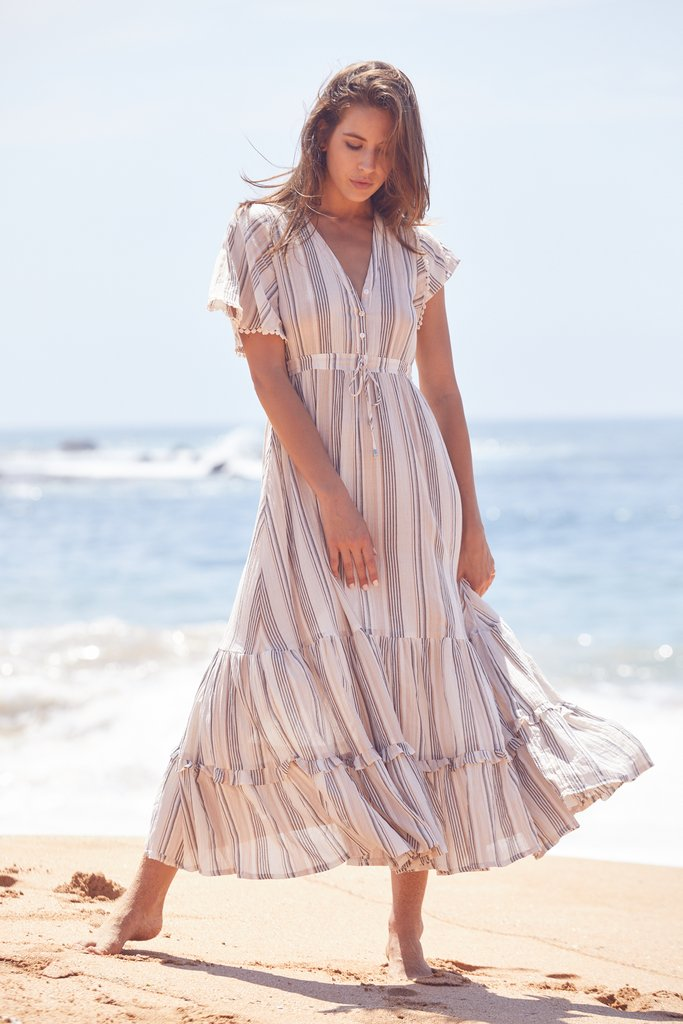 jaase Maxi Dress Ashland in Oasis Stripe Print