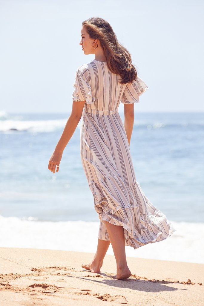 Maxi Dress Ashland in Oasis Stripe Print