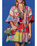 Florence Print patchwork Dress