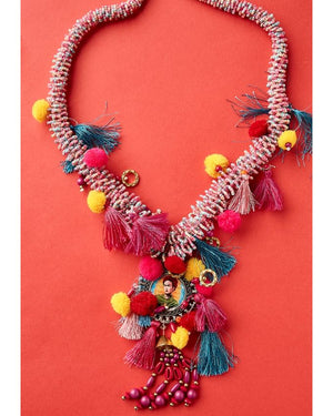 Pink beaded necklace | Antica Sartoria