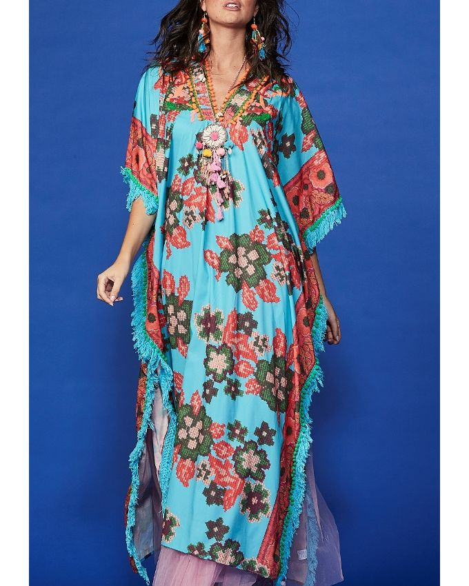 Florence Maxi Kaftan with Embroidery