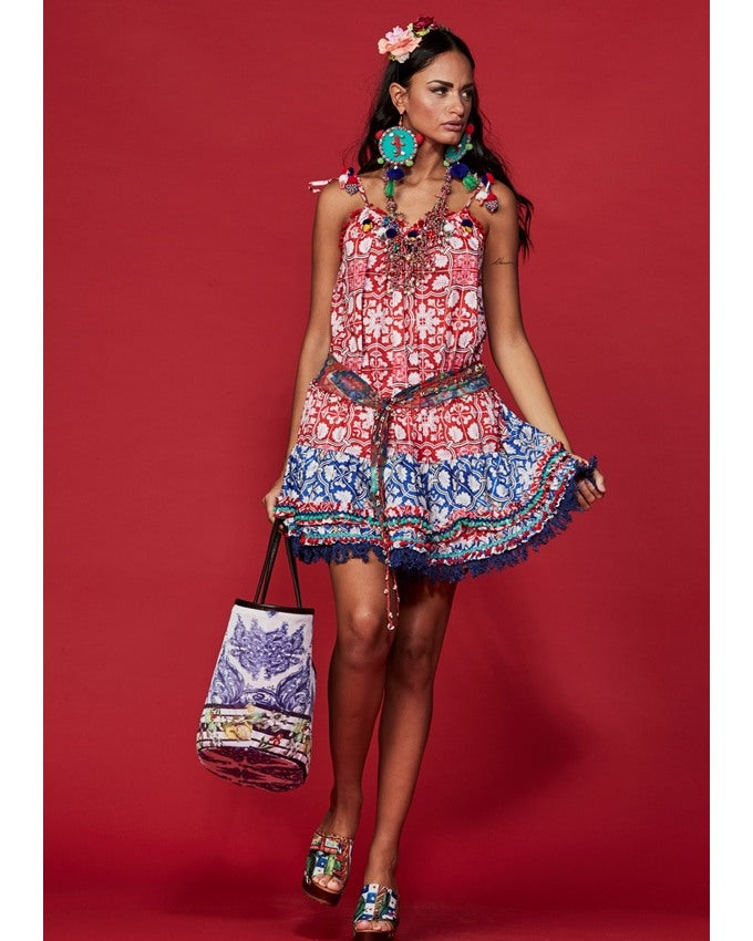 Antica sartoria dress print valencia