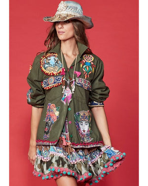 Patchwork Army Jacket | Antica Sartoria | OutDazl
