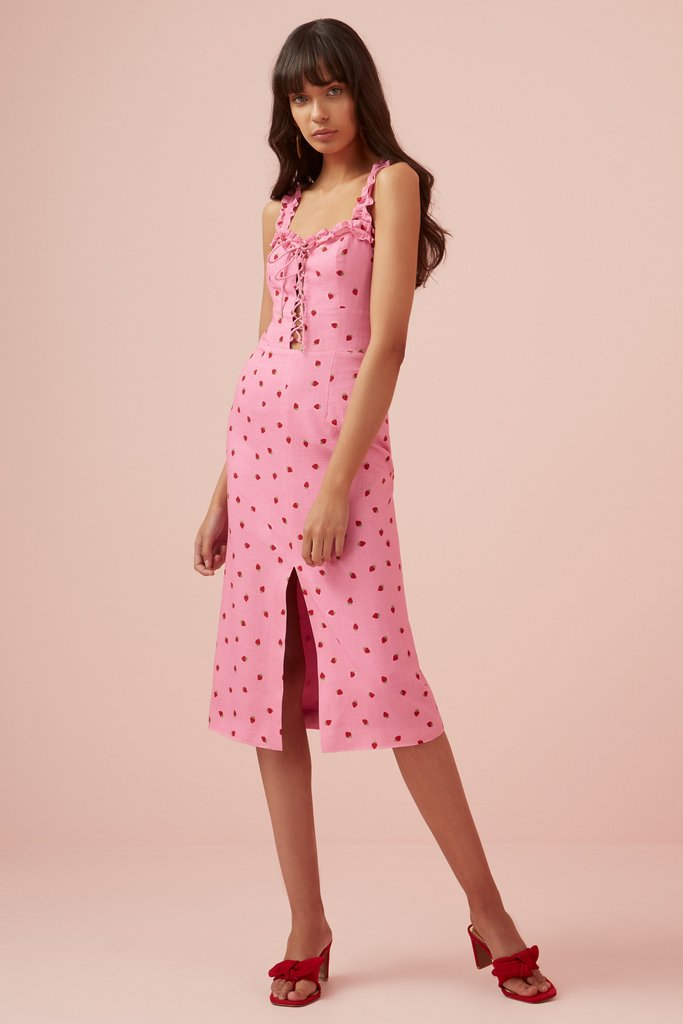 Finders Keepers Lola Dress Pink strawberry