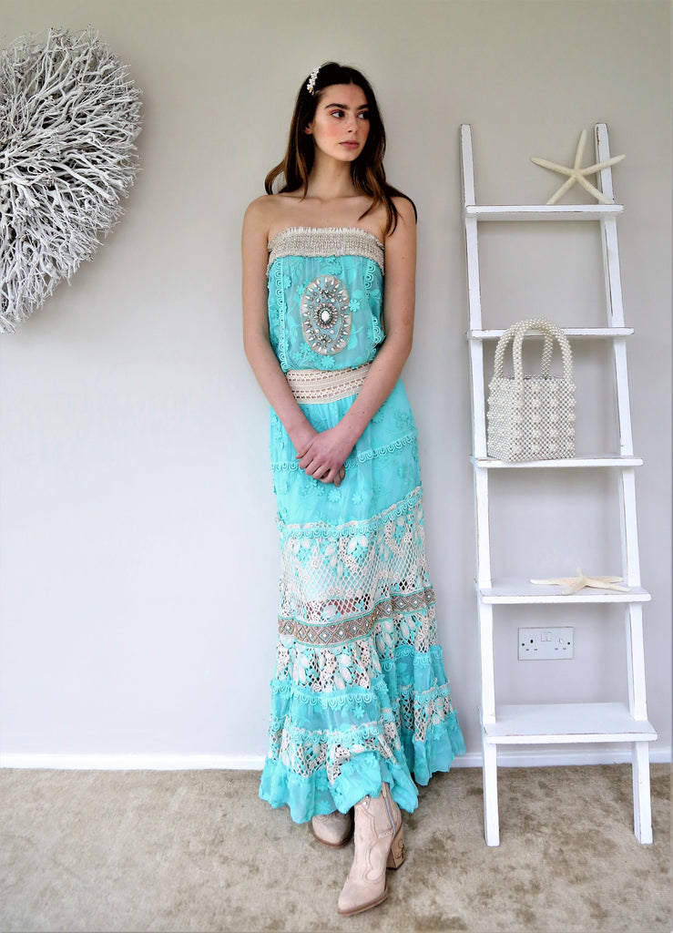 Lace Embellished Maxi dress Madeline