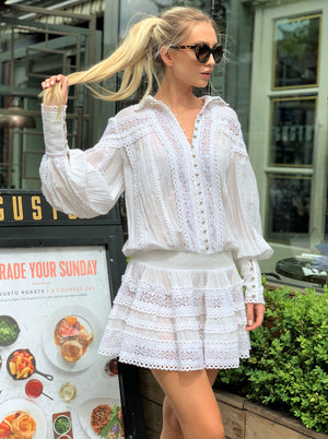 White Moncur embroidered Dress