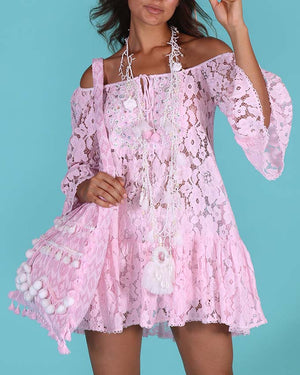 Lace Off the Shoulder Cancan dress