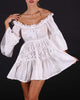 White Off shoulder Lace Dress Tilly