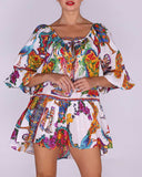 Embroidered Print Oversized Tunic CUBA