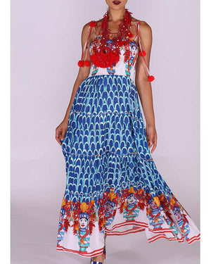Print Bandeau Maxi Dress