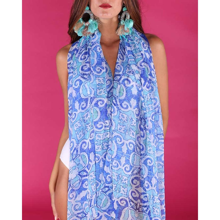 Antica Sartoria Large travel printed Scarf